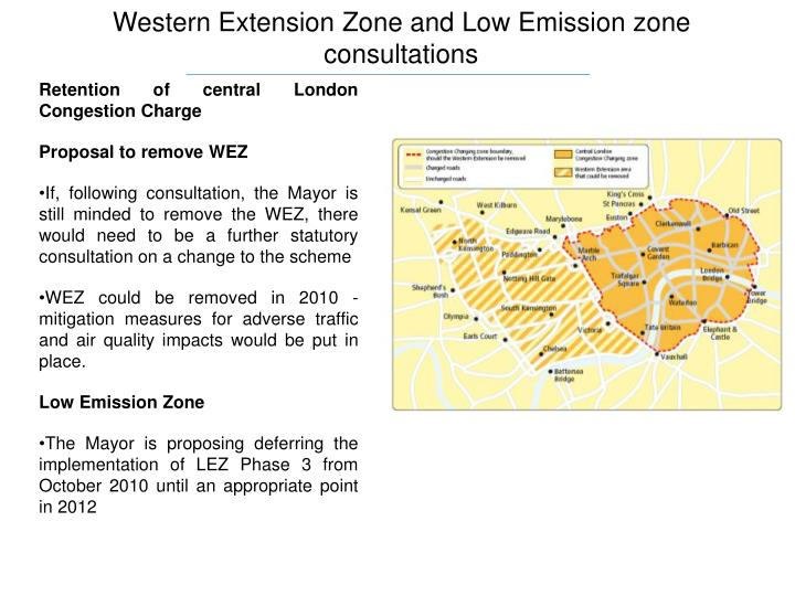 Western Extension Zone and Low Emission zone consultations