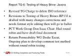 report tg 6 testing of heavy brine javora