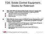 tg5 solids control equipment stocks for robinson
