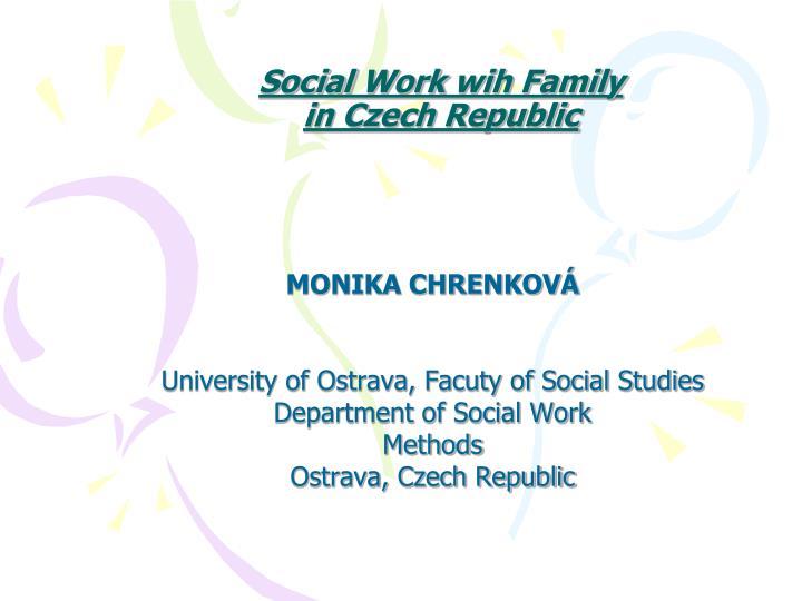 social work wih family in czech republic n.