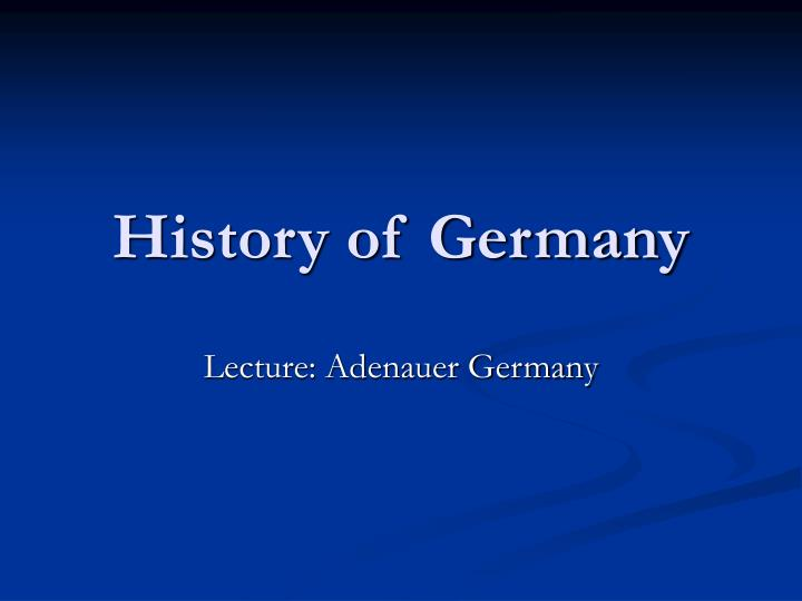 history of germany n.