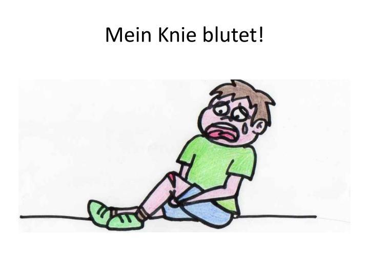 Mein Knie blutet!