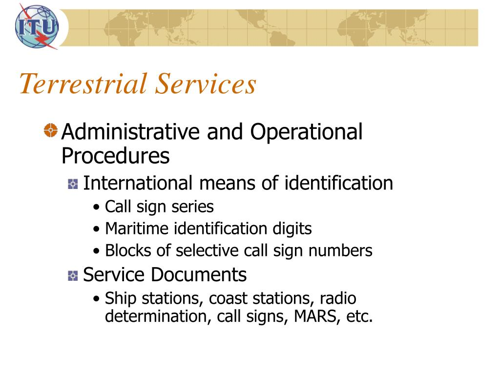PPT - Activities of the Radiocommunication Sector PowerPoint