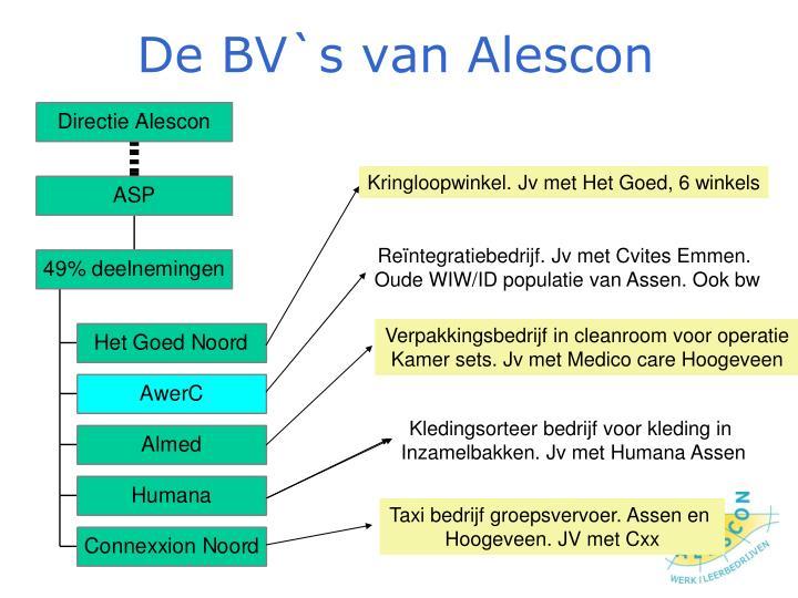 De BV`s van Alescon