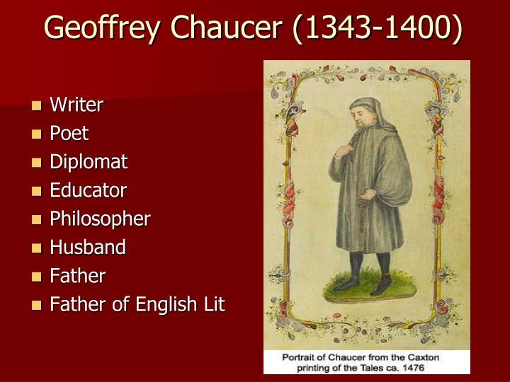 Geoffrey chaucer 1343 1400