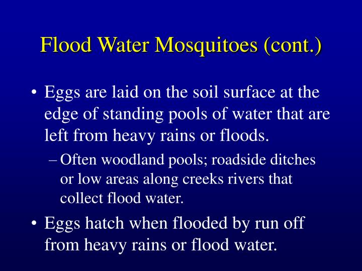 Flood Water Mosquitoes (cont.)