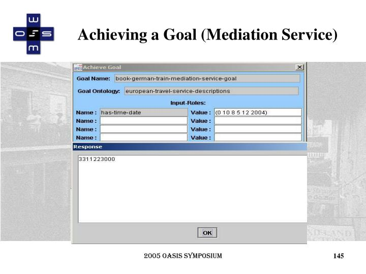 Achieving a Goal (Mediation Service)