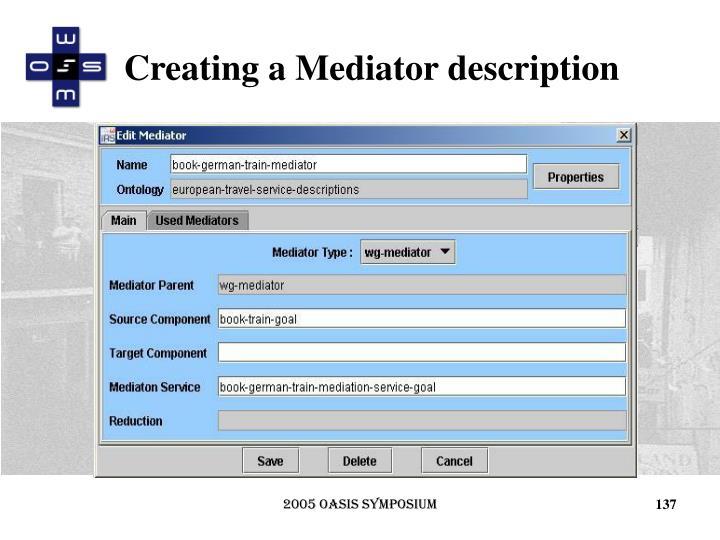 Creating a Mediator description