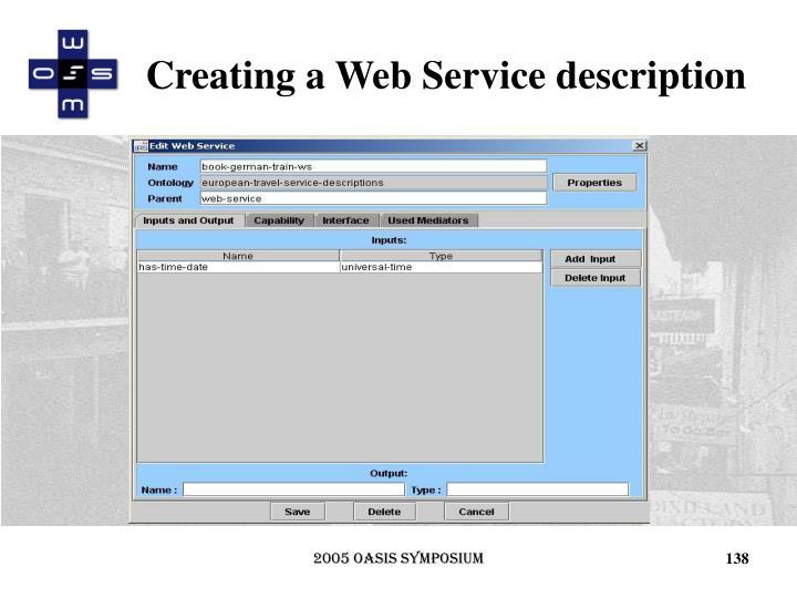 Creating a Web Service description