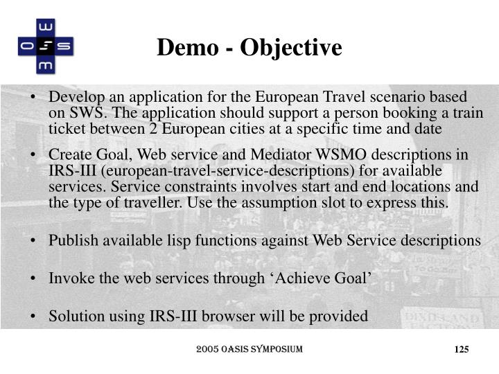 Demo - Objective