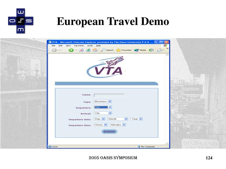 European Travel Demo