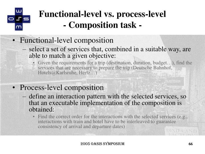 Functional-level vs. process-level