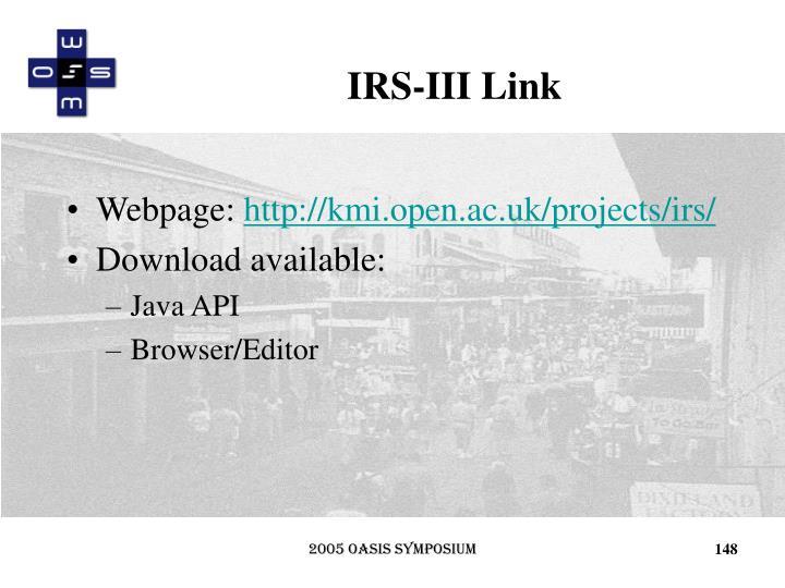 IRS-III Link