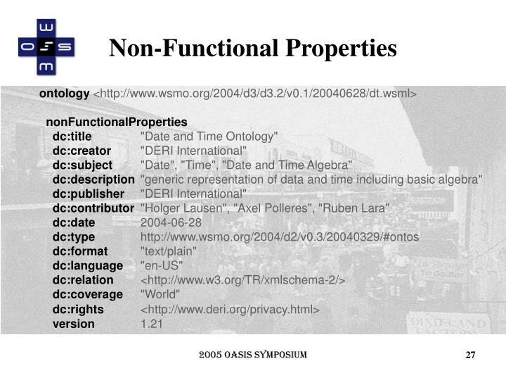 Non-Functional Properties