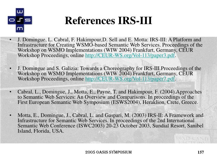 References IRS-III