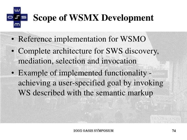Scope of WSMX Development