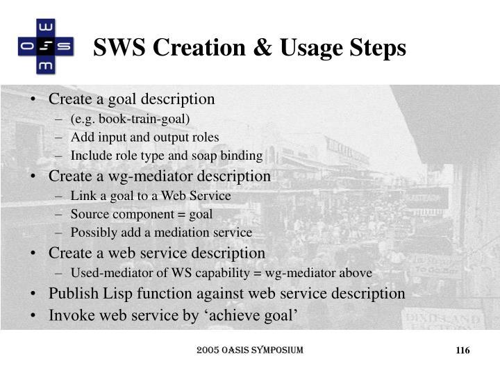 SWS Creation & Usage Steps