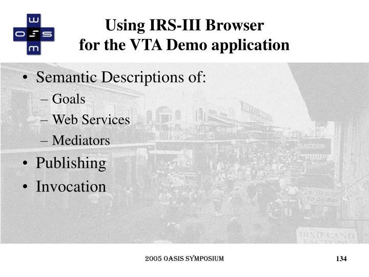 Using IRS-III Browser