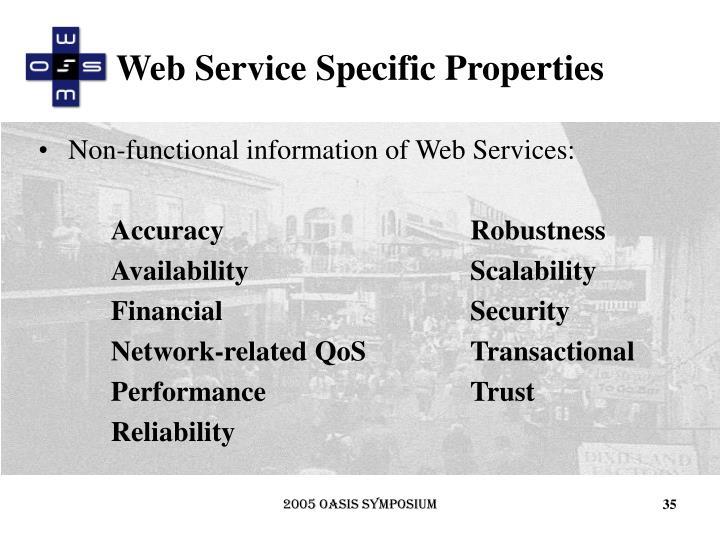 Web Service Specific Properties