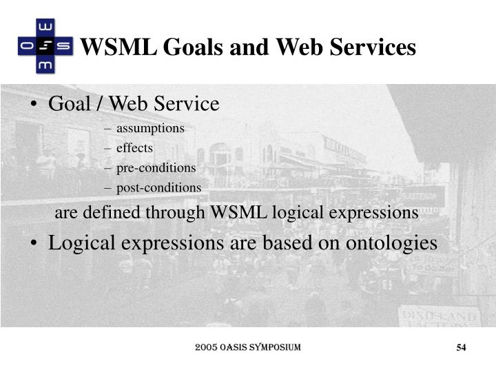 WSML Goals and Web Services