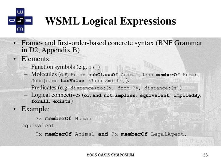 WSML Logical Expressions