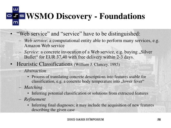 WSMO Discovery - Foundations