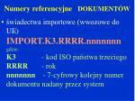 numery referencyjne dokument w2
