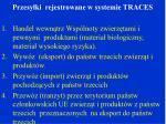 przesy ki rejestrowane w systemie traces