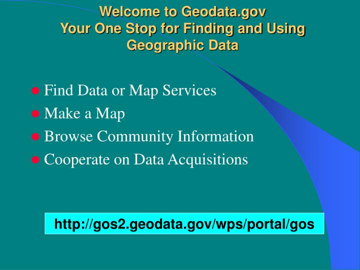 welcome to geodata gov your one stop for finding and using geographic data n.