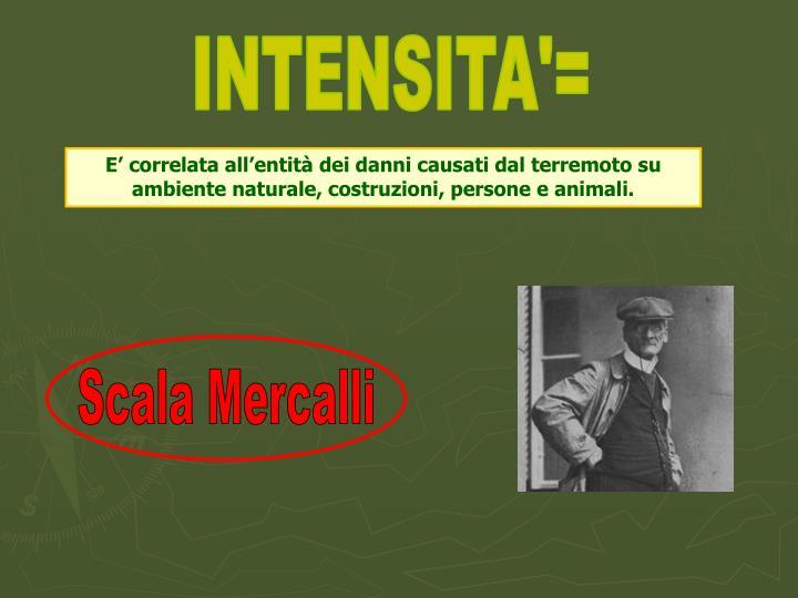 INTENSITA'=