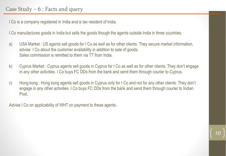 Case Study – 6 : Facts and query