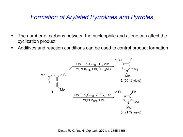 Formation of Arylated Pyrrolines and Pyrroles