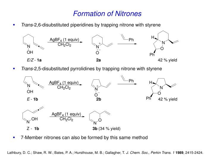 Formation of Nitrones