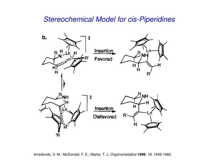 Stereochemical Model for cis-Piperidines