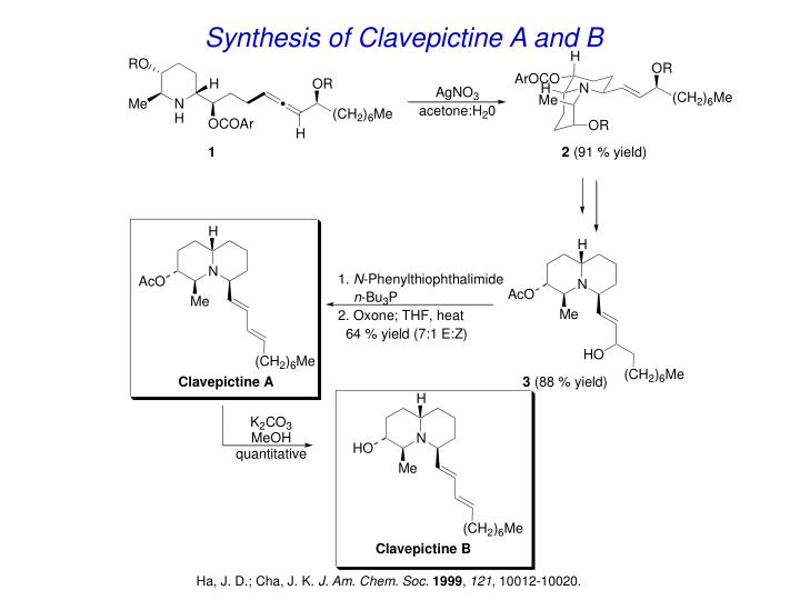 Synthesis of Clavepictine A and B