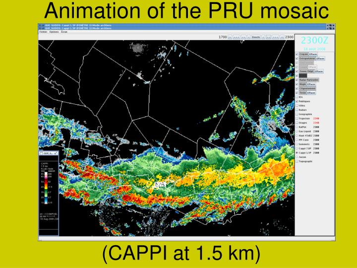 Animation of the PRU mosaic