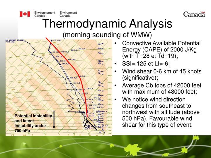 Thermodynamic Analysis