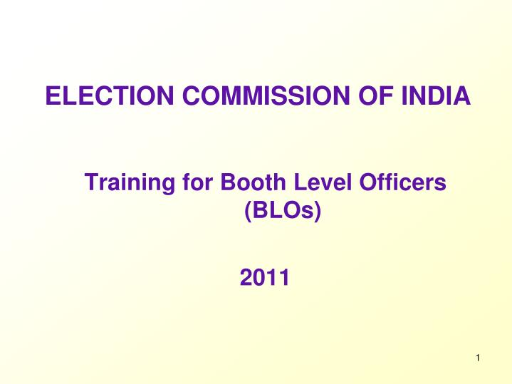 election commission of india n.