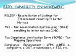 bir s capability enhancement