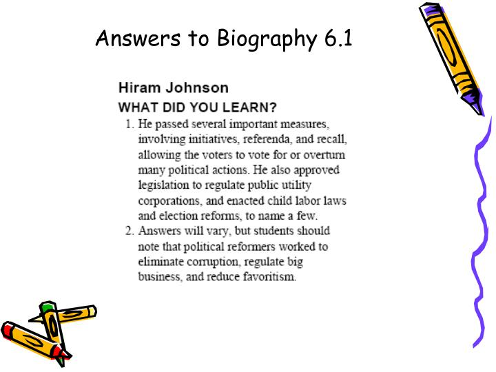 Answers to Biography 6.1