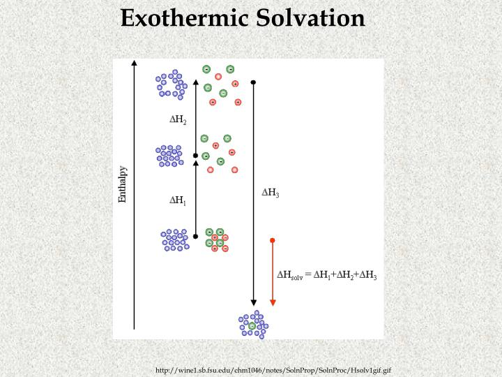 Exothermic Solvation