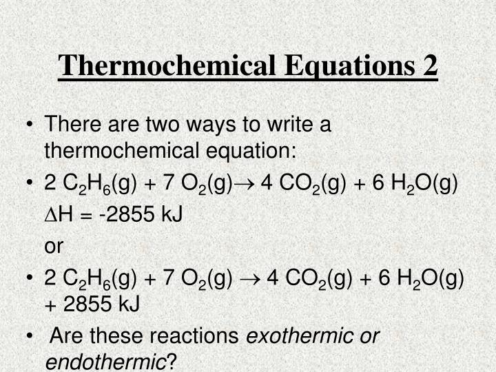 Thermochemical Equations 2