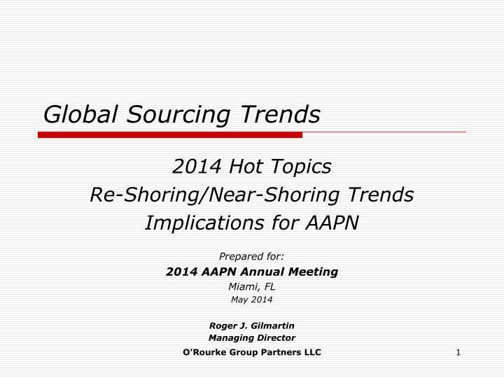 Global sourcing trends