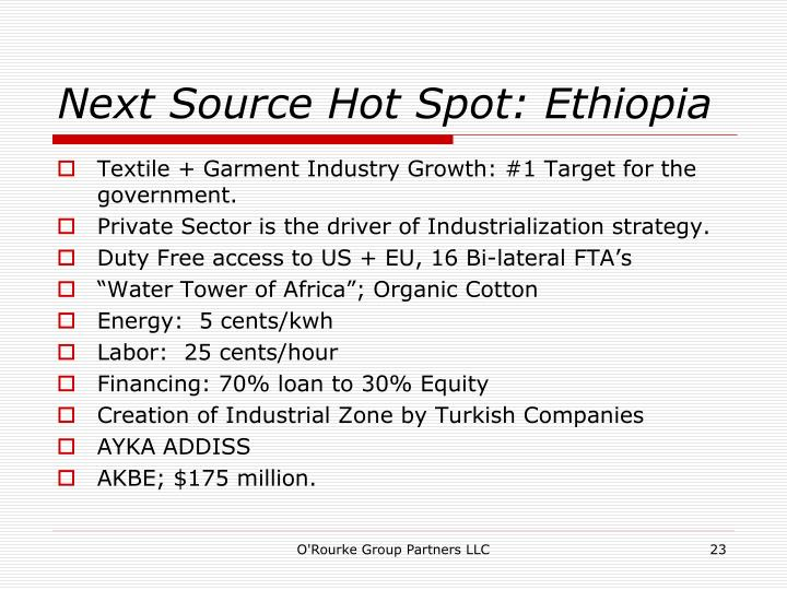 Next Source Hot Spot: Ethiopia