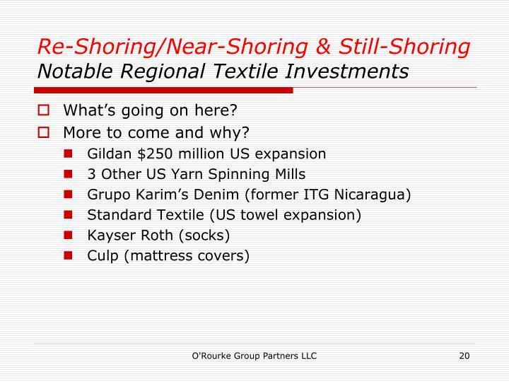 Re-Shoring/Near-Shoring & Still-Shoring