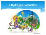 1 hydrogen production