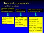 technical requirements hardware solutions
