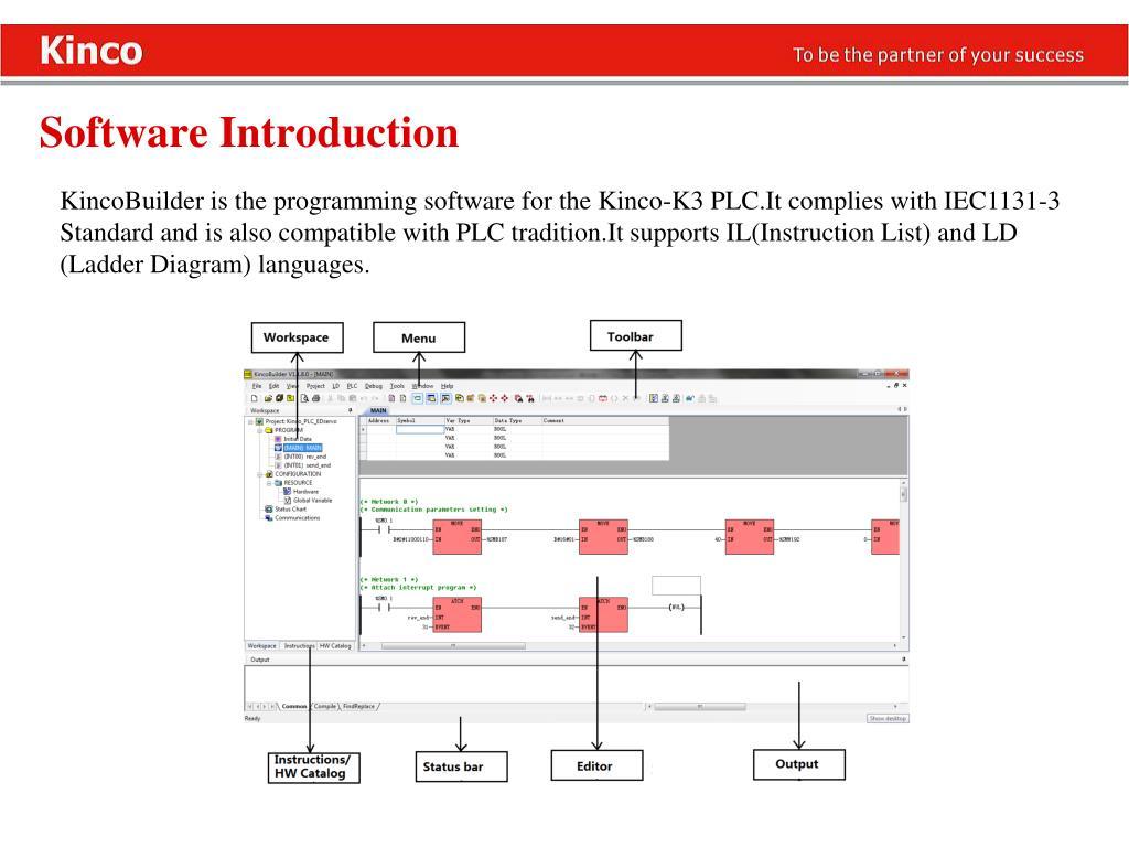 PPT - Kinco Products HMI , PLC , Servo , Stepper
