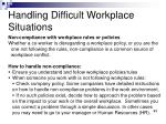 handling difficult workplace situations4