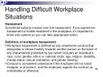 handling difficult workplace situations7